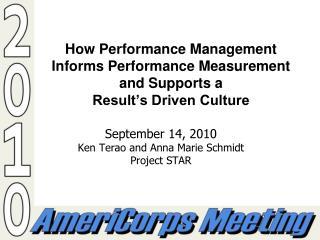 How Performance Management Informs Performance Measurement and Supports a  Result�s Driven Culture