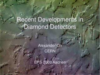 Recent Developments in Diamond Detectors