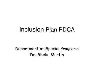 Inclusion  Plan PDCA