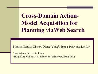 Cross-Domain Action-Model Acquisition for Planning viaWeb Search