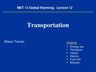 MET 12 Global Warming:  Lecture 12