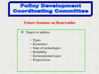 Policy Development Coordinating Committee