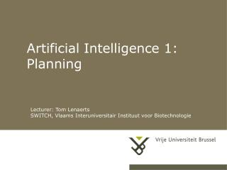 Artificial Intelligence 1: Planning