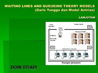 WAITING LINES AND QUEUEING THEORY MODELS (Garis Tunggu dan Model Antrian) LANJUTAN