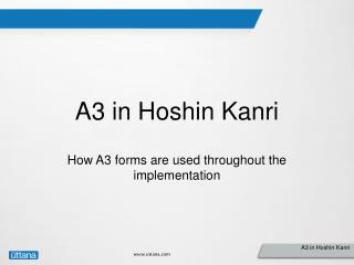 A3 in Hoshin Kanri