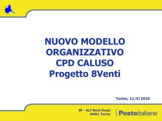 NUOVO MODELLO  ORGANIZZATIVO CPD CALUSO Progetto 8Venti