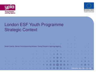 London ESF Youth Programme Strategic Context