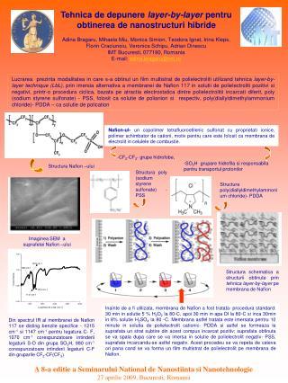 A 8-a editie a Seminarului National de Nanostiinta si Nanotehnologie