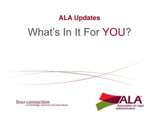 ALA Updates