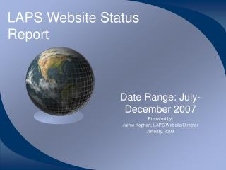 LAPS Website Status Report