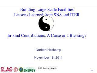 Norbert Holtkamp November 18, 2011