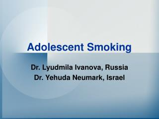 Adolescent Smoking