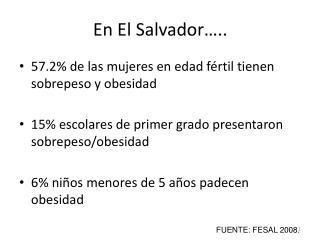 En El Salvador…..