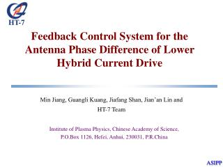Feedback Control System for the Antenna Phase Difference of Lower Hybrid Current Drive