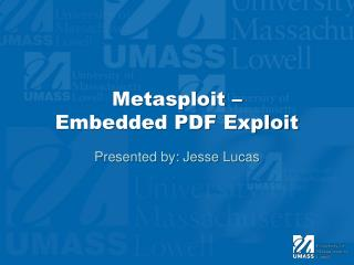 Metasploit  –  Embedded PDF Exploit