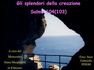 Gli splendori della creazione  Salmo 104(103)
