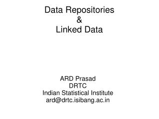 Data Repositories & Linked Data
