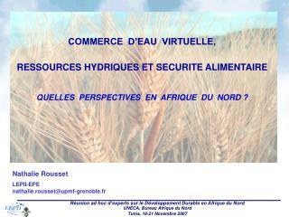 Nathalie Rousset LEPII-EPE nathalie.rousset@upmf-grenoble.fr