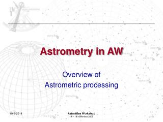 Astrometry in AW
