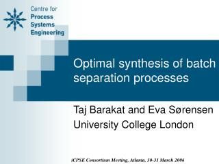 Optimal synthesis of batch separation processes