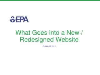 What Goes into a New / Redesigned Website
