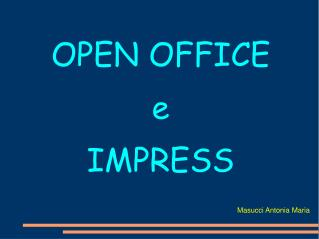 OPEN OFFICE e IMPRESS