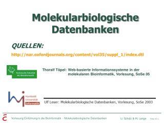 Molekularbiologische Datenbanken