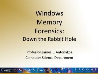 Windows Memory Forensics: Down the Rabbit Hole