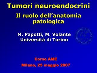 M. Papotti, M. Volante Universit� di Torino