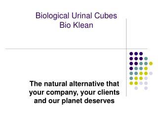 Biological Urinal Cubes Bio Klean
