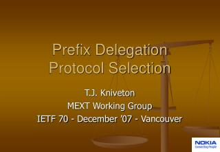 Prefix Delegation Protocol Selection
