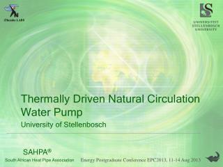 Thermally Driven Natural Circulation Water Pump