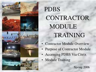 Contractor Module Training ( C-400 & Subcontract Agreements