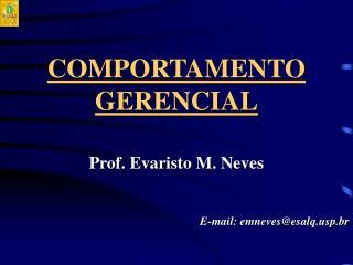 COMPORTAMENTO GERENCIAL