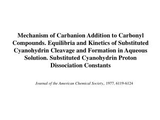 Journal of the American Chemical Society,,  1977, 6119-6124