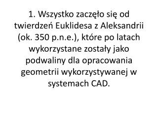 5. Co mia?y umo?liwi? systemy CAD?