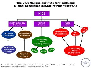 "The UK's National Institute for Health and  Clinical Excellence (NICE):  ""Virtual"" Institute"