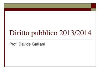 Diritto pubblico 2013/2014