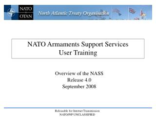 NATO Armaments Support Services  User Training