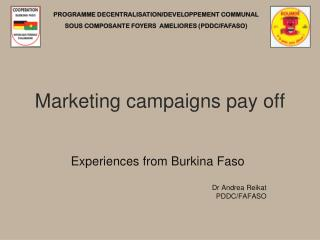 Marketing campaigns pay off