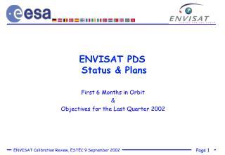 ENVISAT PDS  Status & Plans