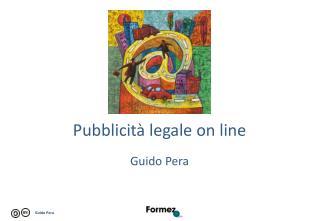 Pubblicità legale on line