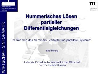 Nummerisches Lösen partieller Differentialgleichungen