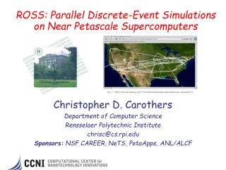 ROSS: Parallel Discrete-Event Simulations on Near Petascale Supercomputers