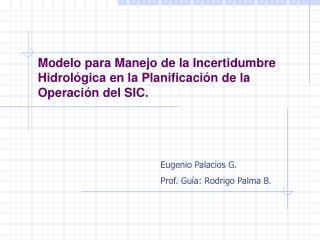 Modelo para Manejo de la Incertidumbre Hidrológica en la Planificación de la Operación del SIC.