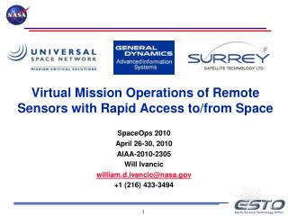 Virtual Mission Operations of Remote Sensors with Rapid Access to