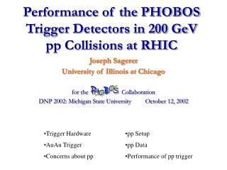Performance of the PHOBOS Trigger Detectors in 200 GeV pp Collisions at RHIC