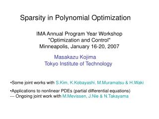 Sparsity in Polynomial Optimization