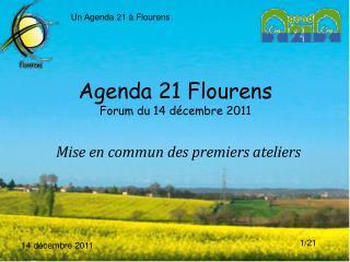 Agenda 21 Flourens Forum du 14 décembre 2011