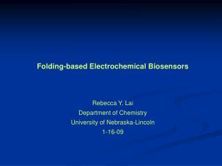 Folding-based Electrochemical Biosensors
